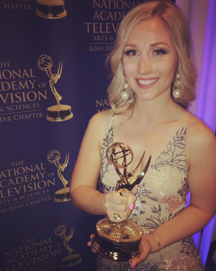 Taylor Winkel winning Emmy awards